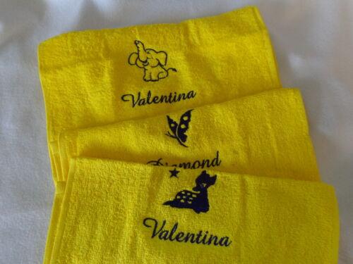 Kinder Handtuch*30x50 cm Kinderhandtuch*Gästehandtuch*KIGA* mit Namen bestickt
