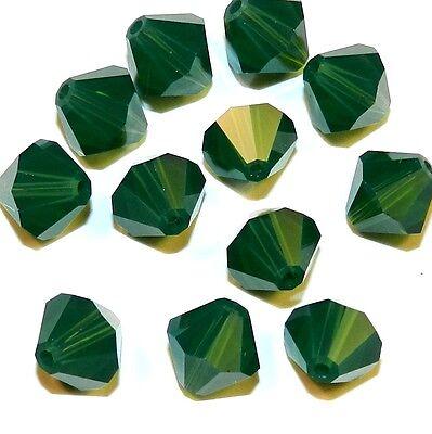 30 Swarovski ® cristal perlas bicone 4mm palace green Opal 5301 Art.