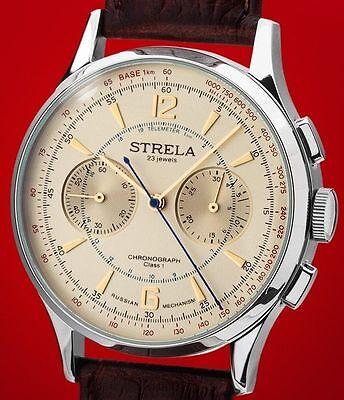 Kompetent Strela Chronograph Tr42lam Poljot Kaliber 3133 Стрела 42mm Modell Strela