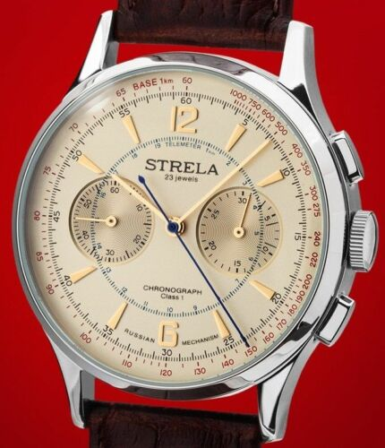 STRELA CHRONOGRAPH 42mm. CALIBRE 3133 MANUAL