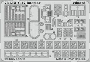 eduard 72 Painted 1 for Interior Airfix Aircraft 73513 SA C47 BRUB6