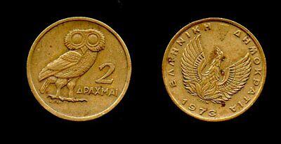 Phoenix Greece 10 drachma Coin 1973 L@@K Greek Military JUNTA Horse Pegasus