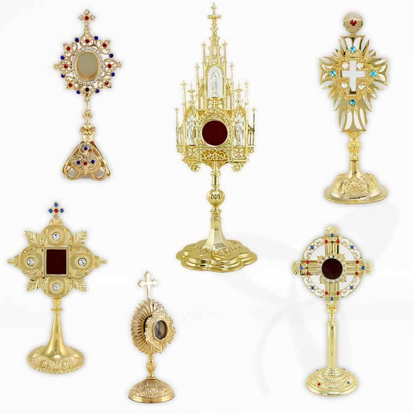 Reliquaire une relique ostensoir pour monastère travail, funéraire, en église ou deco