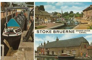 Northamptonshire-Postcard-Views-of-Stoke-Bruerne-Grand-Union-Canal-U581
