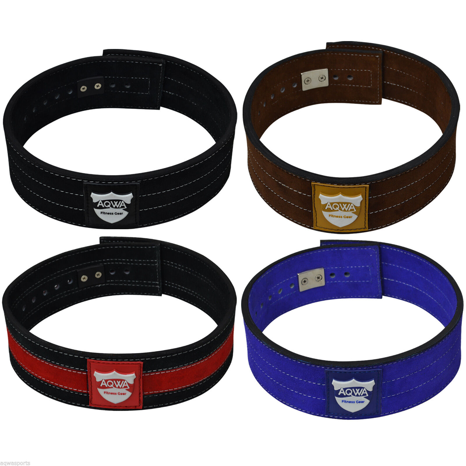 AQWA Weight Power Lifting Leather Lever Pro Belt Gym Training Powerlifting Strap