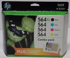 New Genuine HP 564XL Combo Pack Ink Cartridge 564 Cyan Yellow Magenta Exp 2017