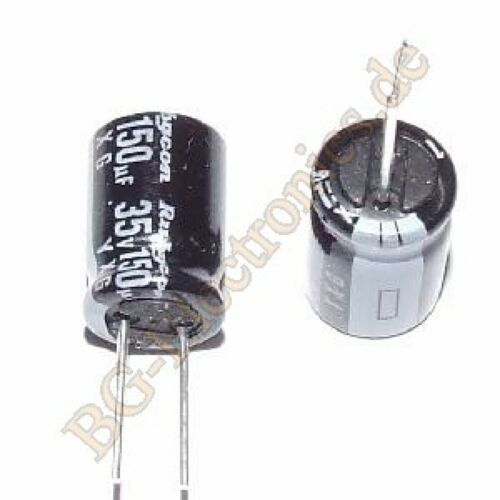 20 x 150µF 150uF 35V 105° RM3.5 Elko Kondensator Capacitor Rad Rubycon  20pcs