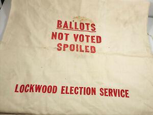Vintage Lockwood Election Ballot Bag vote voting NICE cotton muslin