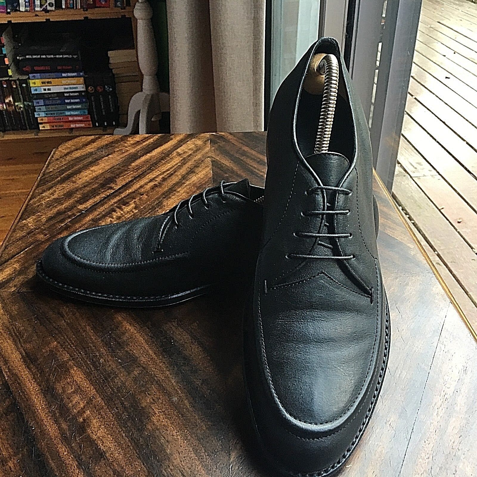 JIL SANDER PEBBLED LEATHER MENS SHOES SIZE 42.5 MADE IN ITALY EUC