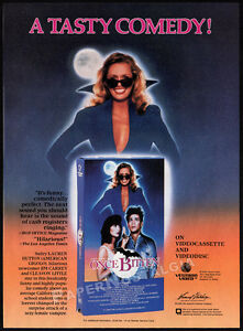 ONCE-BITTEN-Original-1986-print-AD-video-promo-JIM-CARREY-LAUREN-HUTTON