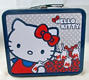 Hello Kitty Tin Lunch Box with Milk & Bow Design (Loungefly)