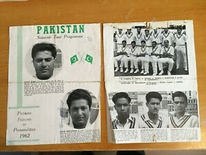 1962 Signed x 22 Pakistan Test Team to England pen photos J Burki Hanif Mohammed
