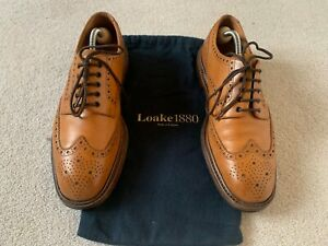 Details about Loake 1880 Chester Brogue Shoes UK 7.5F EU 42 Tan Brown