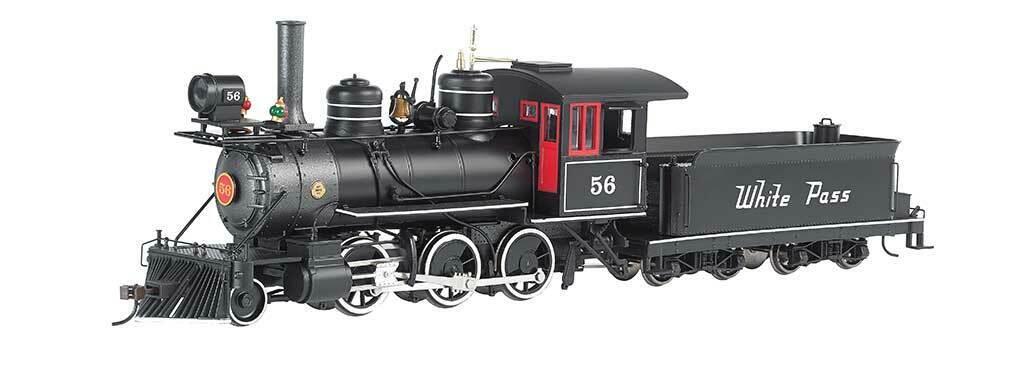 Escala 0n30 - Locomotora de Vapor 2-6-0 blancoo Pass & Yukon - 25250 Neu