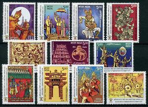 INDIA-2018-ASEAN-Commmeorative-summit-Ramayana-Mythology-stamp-set-11v-MNH