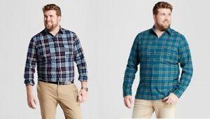 GOODFELLOW-Co-Mens-Big-amp-Tall-Standard-Fit-Plaid-Flannel-Shirt-2XB-3XB-4XB