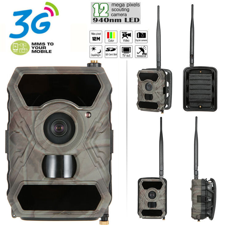 Hunting Camera  12MP 940NM 1080P Scouting Game Trail Cam 3G MMS Wireless S880G  cheap store