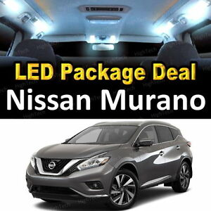 11x white led lights interior package deal for 2003 2005 - 2006 nissan altima interior led lights ...