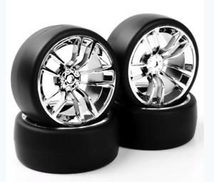 1//10 Rc Drift Car Wheels /& Tires Set For Yokomo Mst Sakura Tamiya Hpi
