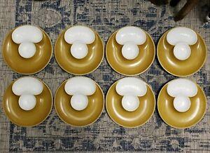 Set-of-8-Mid-20th-Century-French-Porcelain-Artichoke-Plates