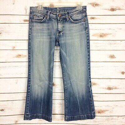Seven 7 For All Mankind Dojo Women/'s Blue Cropped Capri Jeans Sz 25 27 28 32