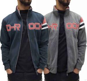 D-Rock-Mens-Designer-Applique-Fleece-Star-Zip-Up-Jacket-Hip-Hop-G-Is-Time-Money