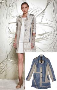 Elisa Cavaletti Trench Jacke langer Blazer ELP17800461 S M L XL 2017 Blau SALE