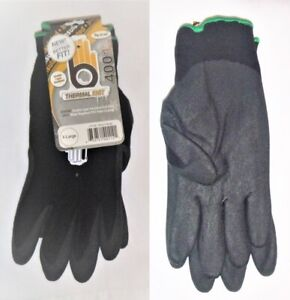 3-PR-Bellingham-Insulated-Thermal-Knit-HPT-PVC-Water-Repelent-XL-C4001BK-Gloves