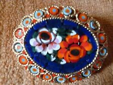 Mosaic Rose design fashion jewelry Pin /broach broch Blue red pink purple