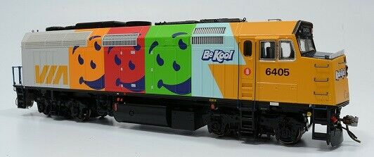 Rapido HO F40PH-2D Via Rail Locomotive Kool Aid Paint Scheme DC   80055