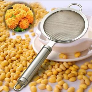 Stainless Steel Fine Mesh Skimmer Flour Kitchen Oil Strainer Colander Spoon