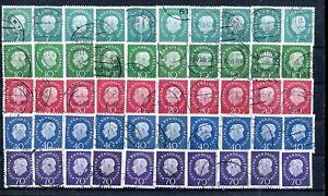 Berlin-Nr-182-186-gest-Heuss-Medaillon-10-Saetze-56102