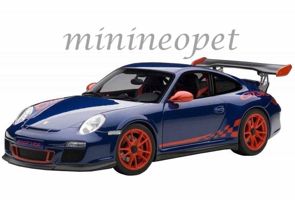AUTOart 78144 PORSCHE 911 997 GT3 RS 3.8 1 18 blueE with RED STRIPES & RED WHEELS