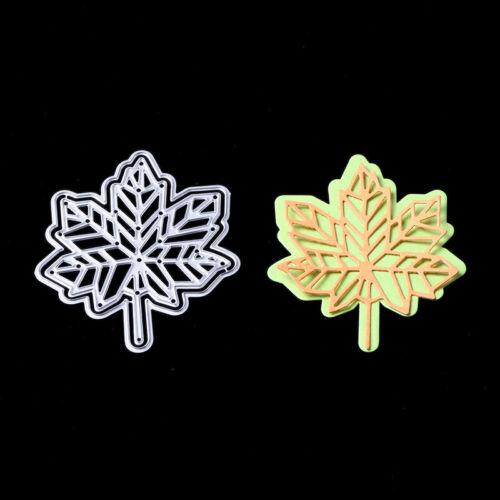 Herbst Ahornblatt Metall Stencil Cutting Dies Scrapbooking Stanzschablone Album