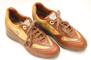 ALVIERO MARTINI women shoes sz.5 Europe 35 brown leather. S6491