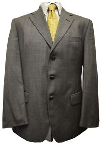 Ms3370 Austin Reed Men S Grey Wool Blazer Jacket Size 42r Uk Ebay