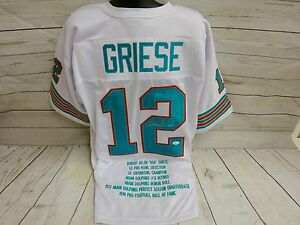save off bcf22 9e3bb Details about Bob Griese Miami Dolphins Signed Custom Stat Jersey JSA  Certified (JSY61)
