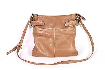 19B Bergamo Crossbody Messeger Bag Tasche Leder braun Umhängetasche