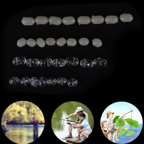 Fishing Tranparent Oval Double Pearl Drill Cross Beads hard Clear beads fisODLK