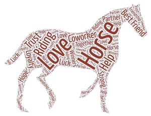 Personalised-WordArt-Equestrian-Dressage-Horse-Pony-Picture-Print-Gift-christmas