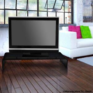 Glasaufsatz Tv Schrank Monitorerhöhung Schwarz Glastisch 80 Cm Top