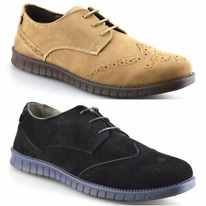 mens rocawear casual brogues smart formal work lace up