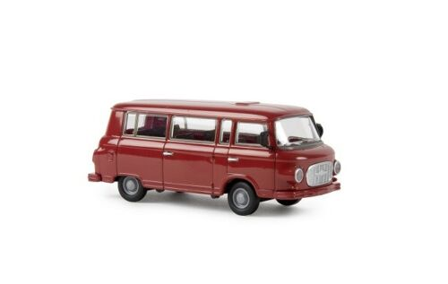 Neu Karminrot Brekina 30037-1//87 Barkas B 1000 Bus