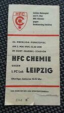 Programm HFC Chemie Halle 1.FC Lok Leipzig 1969 DDR Oberliga DFV Fußball