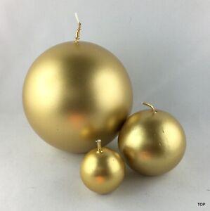 Kugelkerzen-or-Brillant-Deco-Bougies-Noel-Decoration-Mariage-Paques