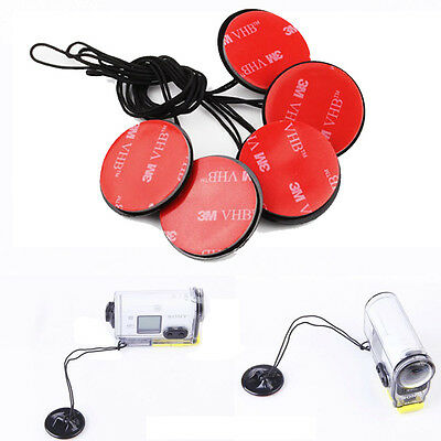 5x Insurance Tether Straps Sticker For Sony Action Cam AS100v/15v/30v HDR-AZ1