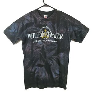 VTG-90s-Large-Moose-amp-Hudson-White-Water-T-Shirt-Adirondack-Wildwaters-Tie-Dye