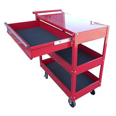 carrello portautensili porta attrezzi con ruote cassettiera colore rosso