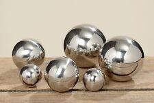 Gartenkugel Set 6-teilig 2,5 - 5cm Edelstahl Silber poliert Dekokugel Kugel Deko
