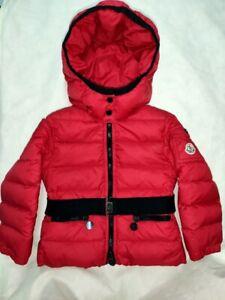 Moncler Red Kinder Down Jacket 98 cm